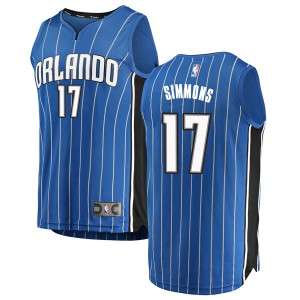 Youth Jonathon Simmons Orlando Magic Fanatics Branded Swingman Blue Fast Break Jersey - Icon Edition