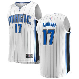 Youth Jonathon Simmons Orlando Magic Fanatics Branded Swingman White Fast Break Jersey - Association Edition