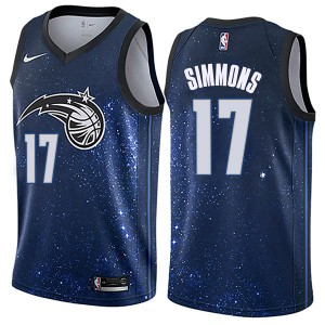 Youth Jonathon Simmons Orlando Magic Nike Swingman Blue Jersey - City Edition