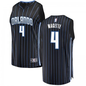 Youth Josh Magette Orlando Magic Fanatics Branded Swingman Black Fast Break Jersey - Statement Edition