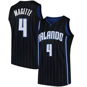 Youth Josh Magette Orlando Magic Nike Swingman Black Jersey - Statement Edition