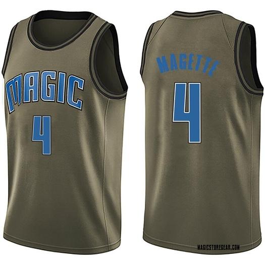 Youth Josh Magette Orlando Magic Nike Swingman Green Salute to Service Jersey