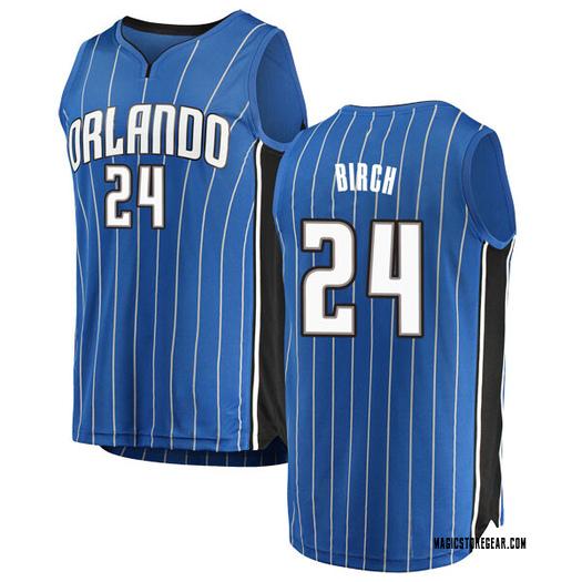 Youth Khem Birch Orlando Magic Fanatics Branded Swingman Blue Fast Break Jersey - Icon Edition