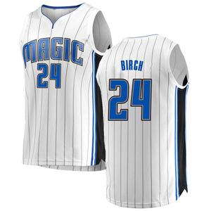 Youth Khem Birch Orlando Magic Fanatics Branded Swingman White Fast Break Jersey - Association Edition