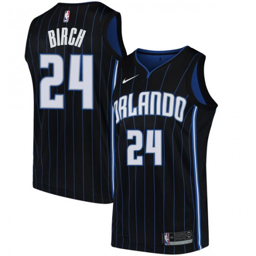 Youth Khem Birch Orlando Magic Nike Swingman Black Jersey - Statement Edition