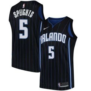 Youth Marreese Speights Orlando Magic Nike Swingman Black Jersey - Statement Edition