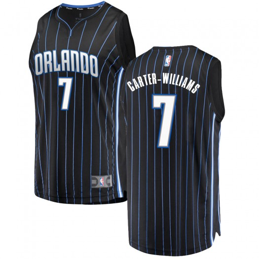 Youth Michael Carter-Williams Orlando Magic Fanatics Branded Swingman Black Fast Break Jersey - Statement Edition
