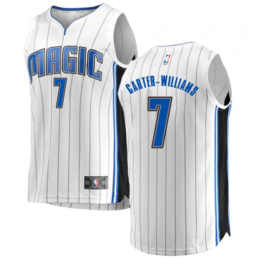 Youth Michael Carter-Williams Orlando Magic Fanatics Branded Swingman White Fast Break Jersey - Association Edition