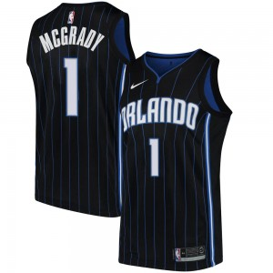 Youth Tracy Mcgrady Orlando Magic Nike Swingman Black Jersey - Statement Edition