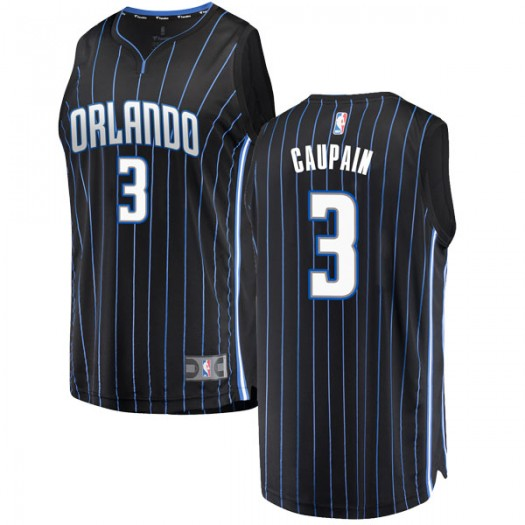 Youth Troy Caupain Orlando Magic Fanatics Branded Swingman Black Fast Break Jersey - Statement Edition