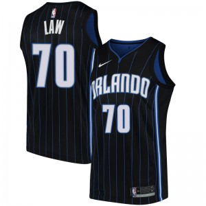Youth Vic Law Orlando Magic Nike Swingman Black Jersey - Statement Edition