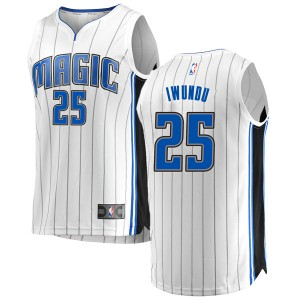 Youth Wes Iwundu Orlando Magic Fanatics Branded Swingman White Fast Break Jersey - Association Edition