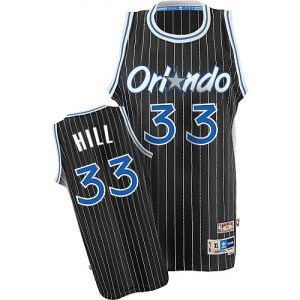 Men's Grant Hill Orlando Magic Adidas Swingman Black Throwback Jersey