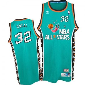 Men's Shaquille O'Neal Orlando Magic Mitchell and Ness Authentic Light Blue 1996 All Star Throwback Jersey