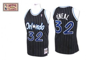 Men's Shaquille O'Neal Orlando Magic Mitchell and Ness Swingman Black Throwback Jersey