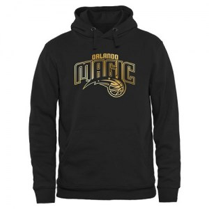 Men's Orlando Magic Gold Collection Pullover Hoodie - Black
