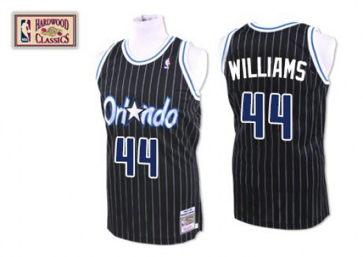 Men's Jason Williams Orlando Magic Mitchell and Ness Authentic Black Throwback Jersey
