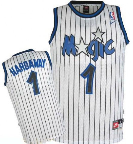 Men's Penny Hardaway Orlando Magic Mitchell and Ness Swingman White Throwback Jersey