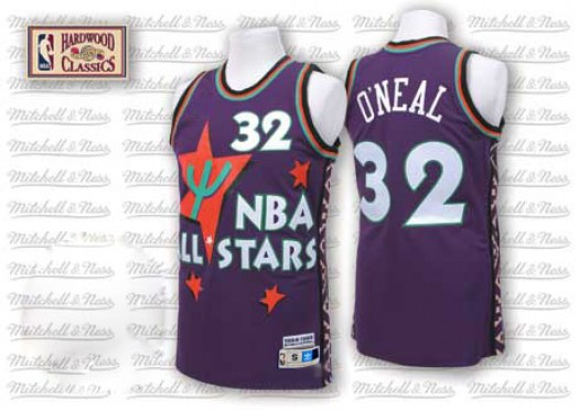 Men's Shaquille O'Neal Orlando Magic Adidas Authentic Purple 1995 All Star Throwback Jersey