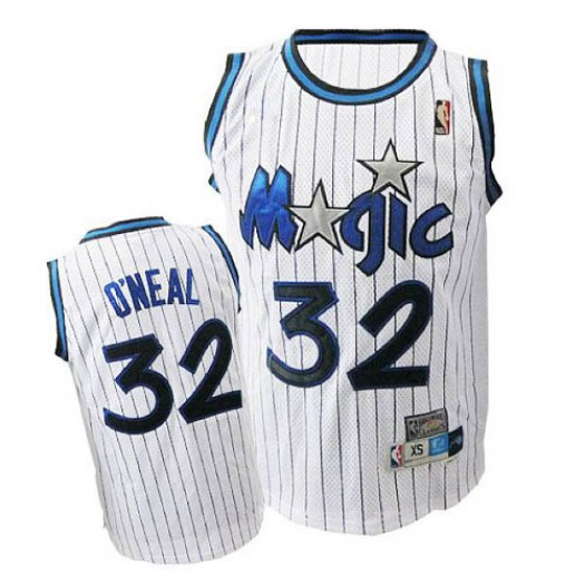 Men's Shaquille O'Neal Orlando Magic Adidas Authentic White Throwback Jersey