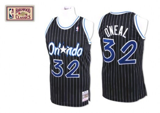 Men's Shaquille O'Neal Orlando Magic Mitchell and Ness Authentic Black Throwback Jersey